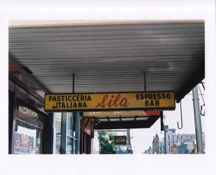 Italian Café sign in Fitzroy, Melbourne